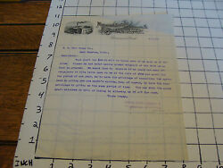 Vintage Letterhead 1899 Meominee Electric And Mechanical Co N.h. Hill Brass