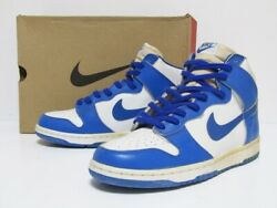 New 1998 Dunk High Le Kentucky White Royal Blue Sneakers Mens 28.5cm Us10.5 A
