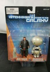 Neca Hitchhikers Guide To The Galaxy Arthur And Marvin 3 Action Figure Set Rare