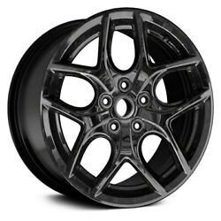For Ford Focus 15-16 Double 5-spoke Black 17x7 Alloy Factory Wheel Replica