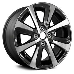 For Toyota Prius C 18 Alloy Factory Wheel 8 Turbine-spoke Charcoal W Machined