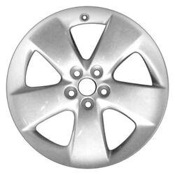 For Toyota Prius 10-15 5-spoke Silver 17x7 Alloy Factory Wheel Remanufactured