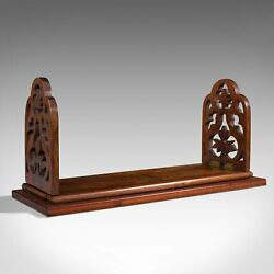 Antique Book Slide English Rosewood Mahogany Library Stand Victorian 1900