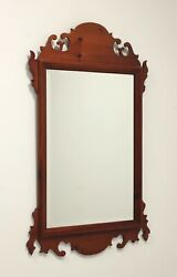 Vintage 20th Century Chippendale Style Pine Mirror