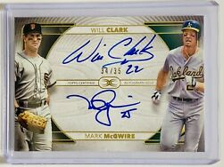 Will Clark Mark Mcgwire 2021 Topps Definitive Dual On-card Auto 34/35 Giants A's