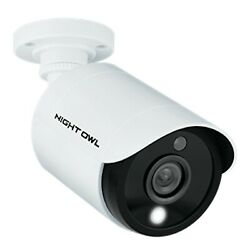 Night Owl Fhd Color Security Camera Cm-c20xl-bu-jf Wired Outdoor 100anddeg Fov White