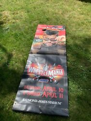 Wwe Bad Bunny Wrestlemania 37 Street Banner - Measures 90 X 30 Official 2021
