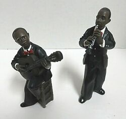 Lot Of 2 Parastone Jazz Ros Player Figurines - Signed Ros