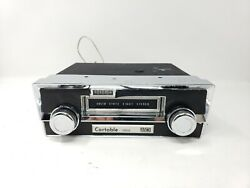 Vintage Cartable-3800 Solid State Eight Stereo Radio Chrome Face Dashboard