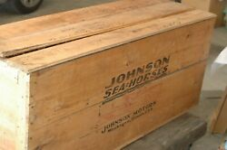New 1947 Johnson Kd-15 Outboard Motor In Original Wooden Shipping Crate