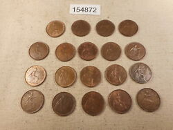 Nineteen Great Britain Farthings Higher Collector Grade Album Coins - 154872