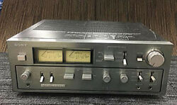 Sony Integrated Amplifier Ta-f6b Ac100v Working Properly C0102