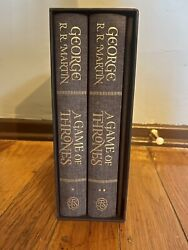 A Game Of Thrones By George R.r. Martin Folio Society 1st Printing