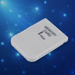 Memory Card System For Playstation 1 One Ps1 Psx Game Mb M 1 1 White F6l1