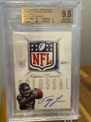 2015 National Treasures Tyler Lockett Rc Shield Patch Auto And039d 1/1 Bgs 9.5/10