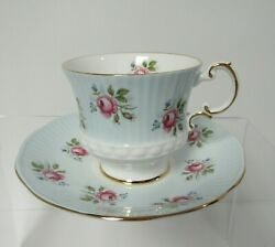 Elizabethan Bone China Tea Cup And Saucer Blue Made In England
