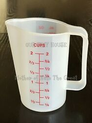 Vintage Tupperware 2 Cup 16 Oz. Measuring Pitcher 500 Ml Red Lettering 1669 Euc