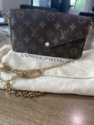 Authentic Louis Vuitton Handbag With Gold Chain Great Condition $800.00