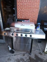 Char-broil Performance Silver 5-burner Liquid Propane Gas Grill With 1 Side Burn