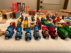 Thomas And Friends Huge Wooden Lot Over 170 Pieces Trains/tracks/accesories Rare