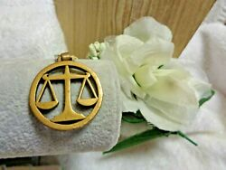 Rare James Avery Bronze Retired Scales Of Justice Key Chain/pendant W/o Key Ring