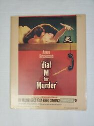 Dial M For Murder 1954 Original Movie Poster Window Card Paper Backed 14x17.