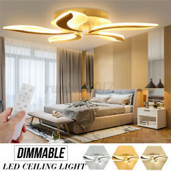 550 Led Ceiling Lights Fox Tail Indoor Ceiling Lamp Post-modern Chandeliers Q
