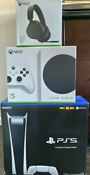 Bundle - Sony Playstation 5 Ps5 Digital Console + Xbox Series S And Xbox Headset