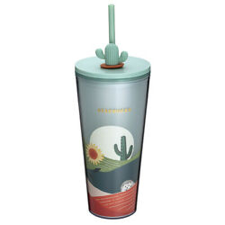 Starbucks Taiwan Cactus Decoration Hedgehog Sunflower Togo Straw Cold Water Cup