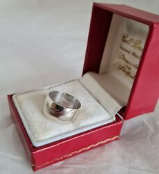 18ct White Gold Wedding Ring/ Band . Sheffield 1979. By Stower And Wragg Ltd