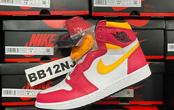 Air Jordan 1 High Og Fusion Red Yellow New Never Worn 555088-603 In Hand