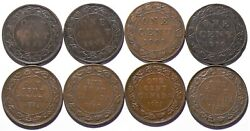 1898 To 1920 Canada Large Cent Lot Of 8 No Duplicates 13876