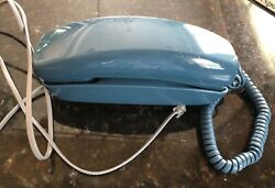 Vintage Western Electric Trimline Blue Telephone Phone Push Button Works