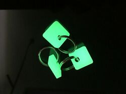 Glow in the Dark Cat Dog Collar Charm Tag GLOWS BRIGHT Stainless Steel Ring