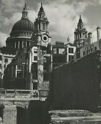 Wolfgang Suschitzky St. Pauland039s Cathedral London Wwii 1942 / Pix-a / Vintage