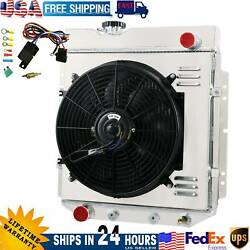 4 Row Radiator Shroud Fan Thermostat For 1960-1966 65 Ford Mustang/comet/falcon