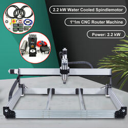 2200w Water Cooled Spindle 3axis Cnc Engraver Engraving Cutting Machine 1000mm