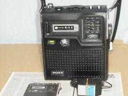 1974 Sony Icf-3000 Fm76-94 Can Be Received Skysensor Vintage With Adapter Used