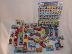 Thomas And Friends Die Cast Lot Of 31 Cars Complete Set W/ Cards Trains Kids