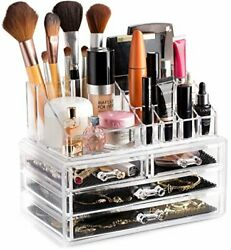 Clear Cosmetic Storage Organizer Easily Organize Your Cosmetics Jewelry and $18.46
