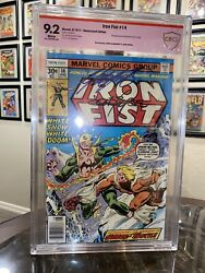 Iron Fist 14 9.2 Cbcs- 1st Sabertooth White Pages Verified Double Signed Byrne
