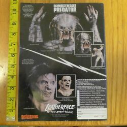 Distortions Predator / Leatherface Clipping Print Ad Horror Mask New Line Cinema