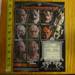 Distortions Flesh And Blood Clipping Print Ad Horror Mask Bubba Gnome Dead Meat