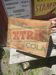 Antique X-tra Soda Beverage Wood Crate Box Dunning Springfield Ma Pop Rare Vtg