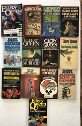 Lot Of 11 Vintage Ellery Queen Paperback Books And 1 Magazine