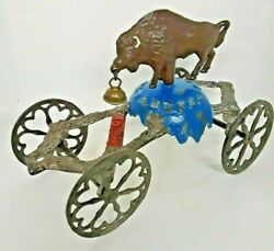 Rare Gong Bell Toy Are You A Buffalo Bell Late 1800and039s Gong Toy Co.