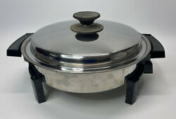 Webalco Liquid Core 11andrdquo Electric Skillet 17884 Stainless Steel Works Great