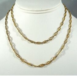 Antique French Guard Chain Fancy Link 18ct Solid Gold