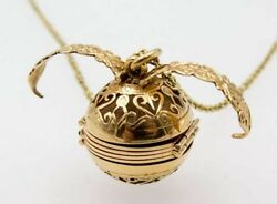 Antique Victorian Folding Photo Locket Picture Multiframe Orb Ball Charm 18k