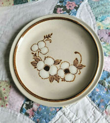 Spice White 8 Salad Plate Vintage Stoneware Japan Sunmarc Pantry Collection